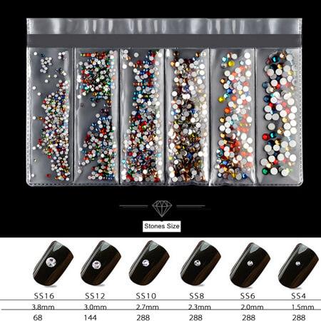 Mix Size Rhinestones Nail Gems Decor - KTG Crystals - Quality ...